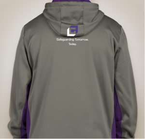 Men's grey hoodie back