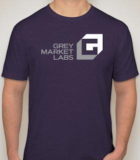 Men's purple T-Shirt front side